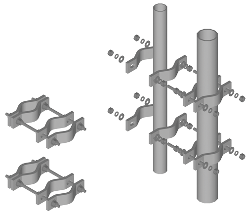 Pipe to clamps