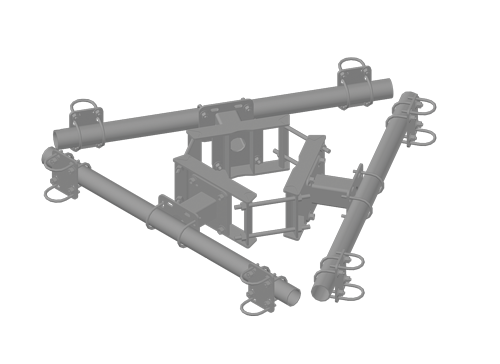 Dual Antenna Pole Mount Assembly