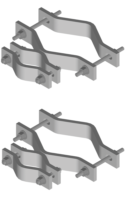 Welded Pipe-to-Pipe Clamps