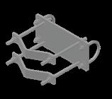 U-Bolt to Half-Clamp Crossover Adaptor Kit